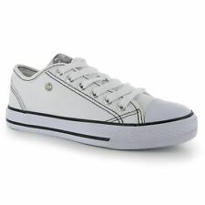 Dunlop Canvas Casual Trainers Womens White/White Sneakers Shoes Footwear