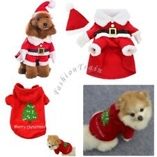 Puppy Pets Dogs Cat Christmas Sweater Hoodie Coat Warm Outfit Costume Apparel