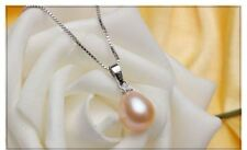 New Fine White Color Pearl Pendant Necklace and Earring Set for Women JEX221