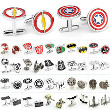 Men Wedding Party Stainless Steel Cufflinks Novelty Batman Shirt Cuff Links Gift