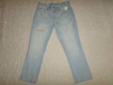 GAP 1969 JEANS WOMENS SIZE 28 REAL STRAIGHT MID-RISE DESTRUCTED STRETCH NEW NWT