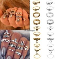 New Vintage Style 10PCS/Set Finger Ring Alloy Punk Style Carve Decor WT8804 01