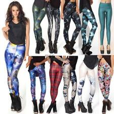 Women Colorful Galaxy Print Leggings Stretchy Sexy Jeggings Pencil Pants WT88 01