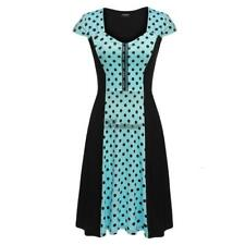 Zeagoo Women Cap Sleeve Dots Flare Fit A-Line Cocktail Party Dress WT8803 02