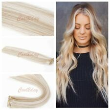 #12/613 Brown Mixed Blonde 7 pcs Real Remy Clip In Human Hair Extensions USA