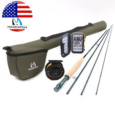 5WT/8WT Fly Fishing Rod & Reel Combo Kit 9' 4Sec Fly Lines, Fly Box with Flies