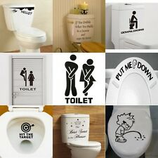 Toilet Seat Wall Sticker Vinyl Art Removable Bathroom Decal Decor Quot Mural DIY