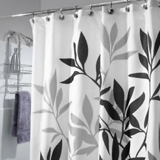 Shower Curtain Leaves Fabric with 12 Rust Proof Metal Grommets 72 x 72 Inches