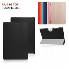 """For 10.1""""Acer Iconia One 10 B3-A40 Tablet, PU Leather Stand Flip Case Cover Skin"""