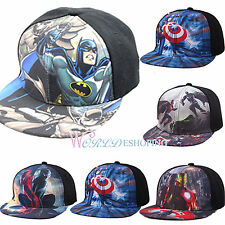 Kids Superman Batman Captain America SnapBack Baseball Cap Adjustable Sports Hat