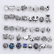 40pcs Mixed Fit Pandora Charms Silver Color Zinc Alloy  Beads For Charm