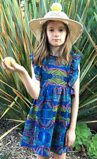 Anthem Of the Ants Navy Blue Combo Beautiful Summer Mia Dress NWT 6 8 10