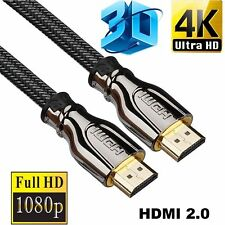 Premium Ultra HD HDMI Cable v2.0 High Speed Ethernet HDTV 2160p 4K 3D Durable