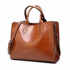 New Fashion Solid Color Simple Pu Leather Shoulder Bag for Women