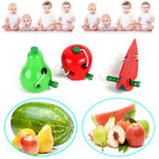 Children Educational Toy Colorful Wooden Worm Eat Fruit Developmental Baby Toy