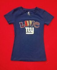NWT NFL NEW YORK GIANTS LOVE GIANTS  T-SHIRT YOUTH GIRL SZ 6/6X