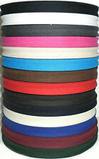 """COTTON BIAS BINDING TAPE FOLDED, 1/2"""" 33 MTR ROLL, VARIOUS COLOURS"""