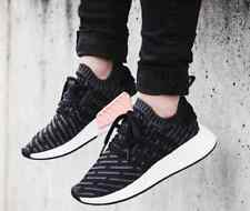 Adidas NMD_R2 PK W Core Black Pink Salmon Primeknit NMD R2 BA7239 AUTHENTIC