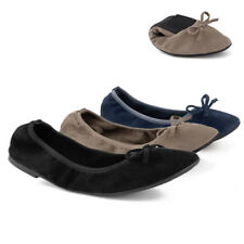 Greatonu Womens Suede Flat Slip On Round Toe Ballet Dance Shoes Casual Loafer US