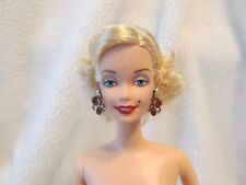 Gorgeous Barbie Doll Blonde Hair Blue eyes Monroe Barbie with Jewelry Nude New