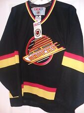 NwT Vintage 1994 Vancouver Canucks Black Throwback CCM  Jersey