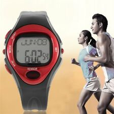 Pulse Heart Rate Monitor Calories Counter Fitness Watch Time Stop Watch Alarm PS