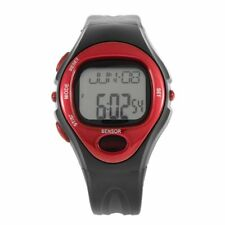 Pulse Heart Rate Monitor Calories Counter Fitness Watch Time Stop Watch Alarm SS