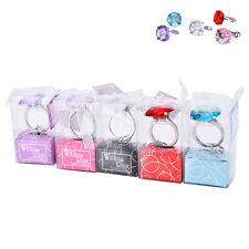 Super Big Diamond Crystal Ring Keychain Romantic Wedding Favor Party Toys Gift