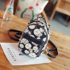 Canvas Material Printed Rivet Decorated Casual Backpack For Teenager Girl