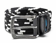 Men New Fashion Elastic Style Casual Silver Pleated Buckle Stretch Belt