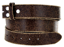 Leather Strap Belt Snap on - Bonded Leather Waistband - Vintage Look for Buckles