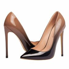 Plus Size Womens Pumps Patent Slip On Pointed Toe High Heels Stiletto Shoes