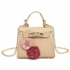 Women Mini Size Flower Decorated New Design Long Chain Strap Shoulder Bag