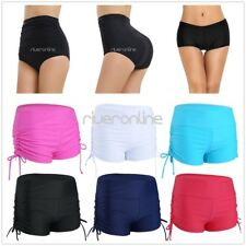 Womens Boyleg Swimwear High Waist Bikini Bottom Boardshorts Swim Shorts Swimsuit