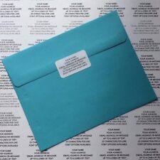 White Sticky Return Address Labels - Custom Personalised Pre Printed Stickers