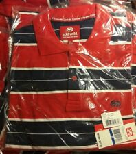 Mens Ecko Unltd. Polo Shirt Size M, XL Red Navy White Striped Short Sleeve NEW