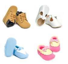 Infant Toddler Newborn Baby Leather Cotton Soft Sole Crib Shoes First Shoes 18M