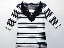NWT Tommy Hilfiger Women's 3/4 Sleeve Striped Knit Top Size: XS