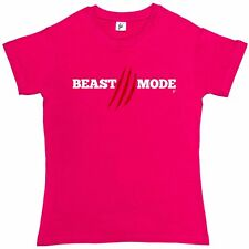 Beast Mode Hard Core Gym Work Out Fitness Womens T-Shirt