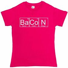 Periodic Table - Chemistry Of Bacon Geek Chemistry Womens Ladies T-Shirt