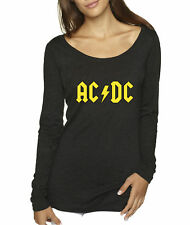 New Way 777 - Women's Long-Sleeve ACDC Beavis Butt-Head Butthead Parody Logo
