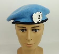 UNITED NATIONS PEACEKEEPING FORCES BLUE BERET PKO HAT MILITARY BERET BADGE