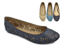 Greatonu Womens Ballet Flats Fashion Cut Outs Sweet Hollow Summer Causal Shoes