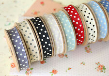 East of India Polka Dot Ribbon 3m shabby chic craft Dotty gift wrapping ribbons