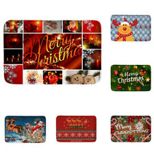 Xmas Decor Non-slip Door Floor Area Rug Mat Doormat Bath Home Carpet 6 Types