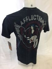 Mens NEW AFFLICTION T Shirt AC WRENCH BLACK LIVE FAST M L XL 2XL 3X A13788 NWT