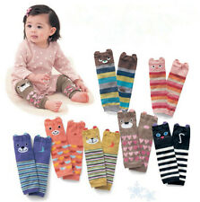 Cartoon Baby Leg Warmers Boys Girls Kids Toddler knee-length Striped Leg Warmer