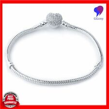 European Snake Chain with Crystal Heart Charm Bracelets for Women