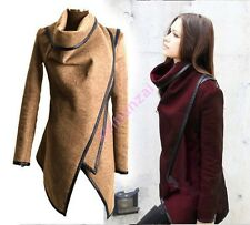 2018 Hot Chic Womens Cape Cloak Poncho Woolen Blend Jacket Trench Loose Coat NEW