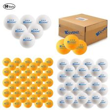 Ping Pong 50-Pack 3-Star 40mm Table Tennis Balls Advanced Practice by KEVENZ